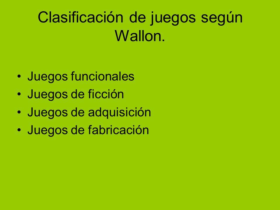Clasificación de juegos según Wallon.
