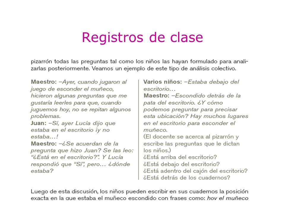 Registros de clase