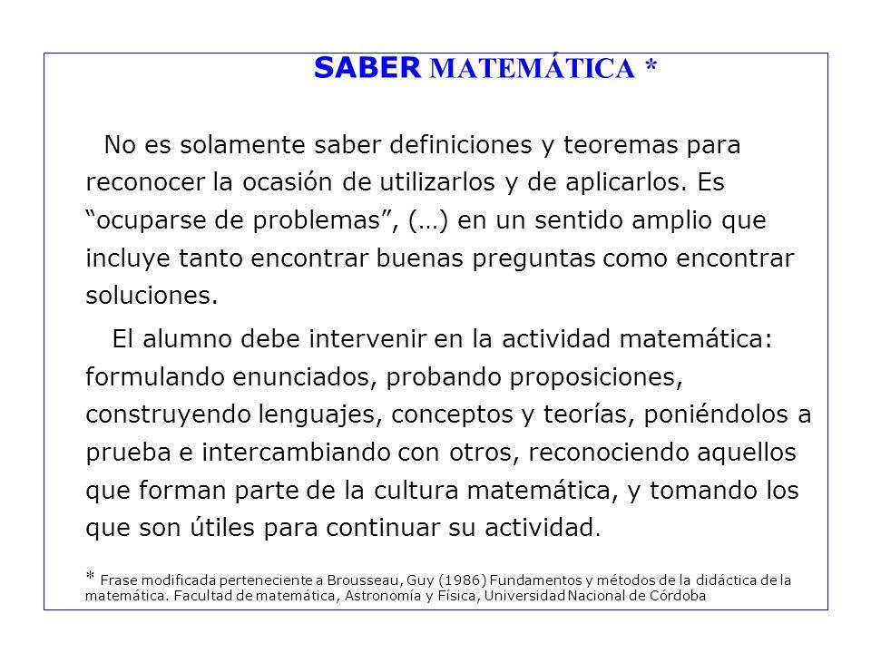 SABER MATEMÁTICA *
