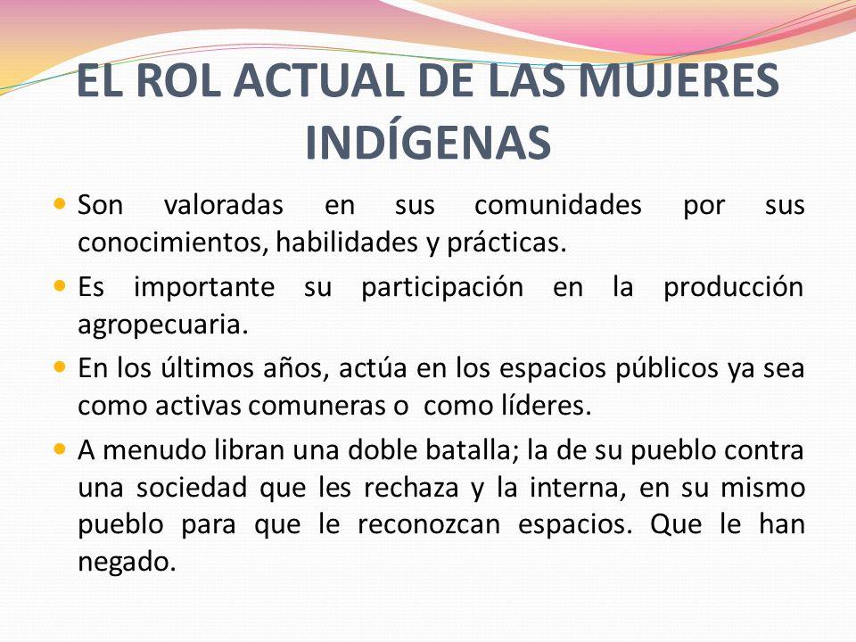 EL ROL ACTUAL DE LAS MUJERES INDÍGENAS