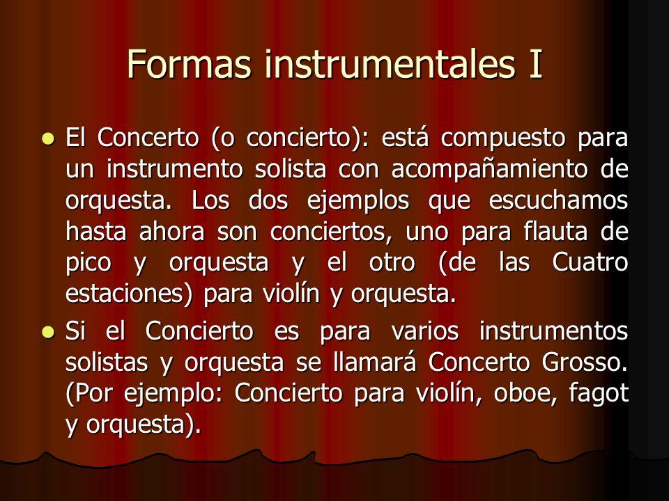 Formas instrumentales I