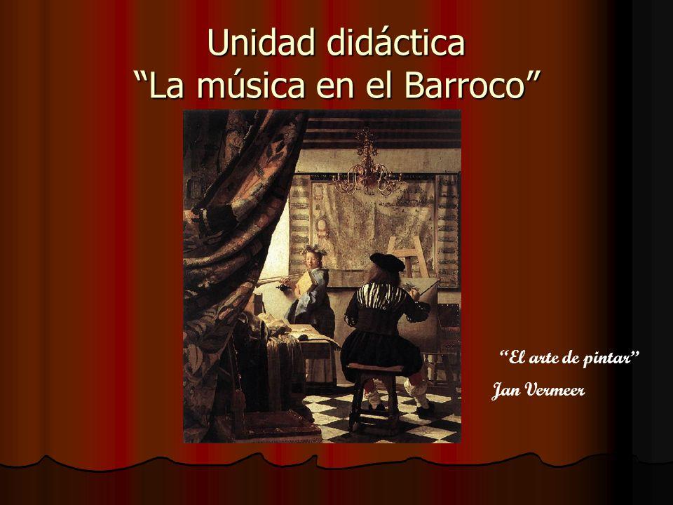 Unidad didáctica La música en el Barroco