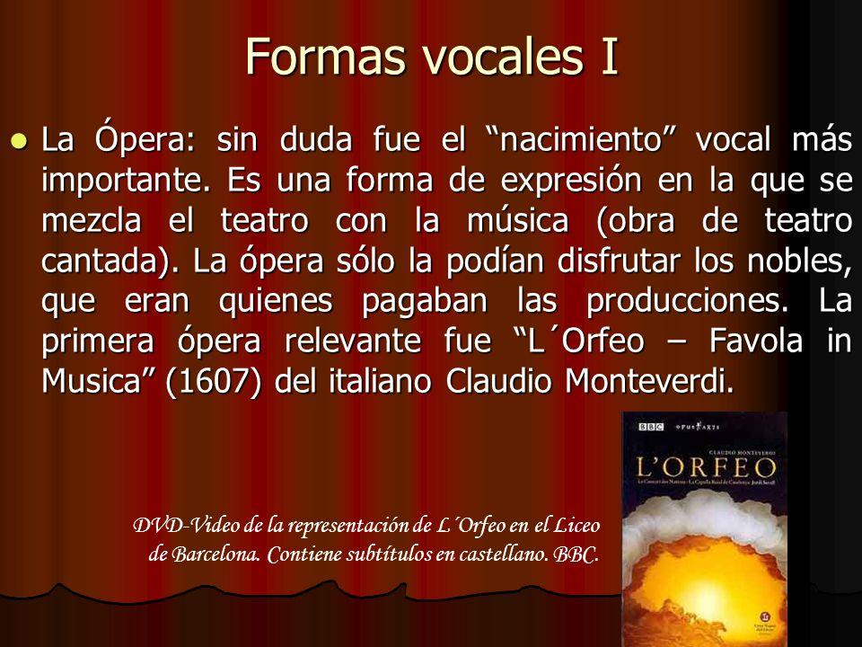 Formas vocales I