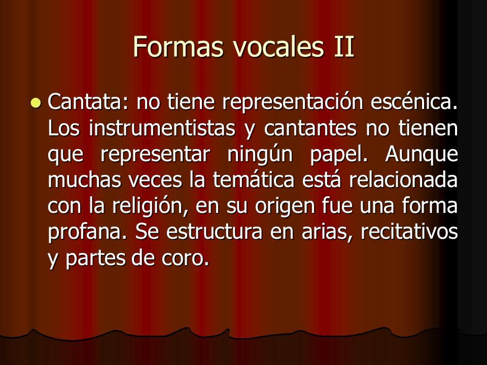 Formas vocales II