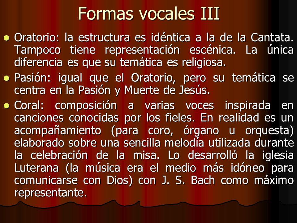 Formas vocales III