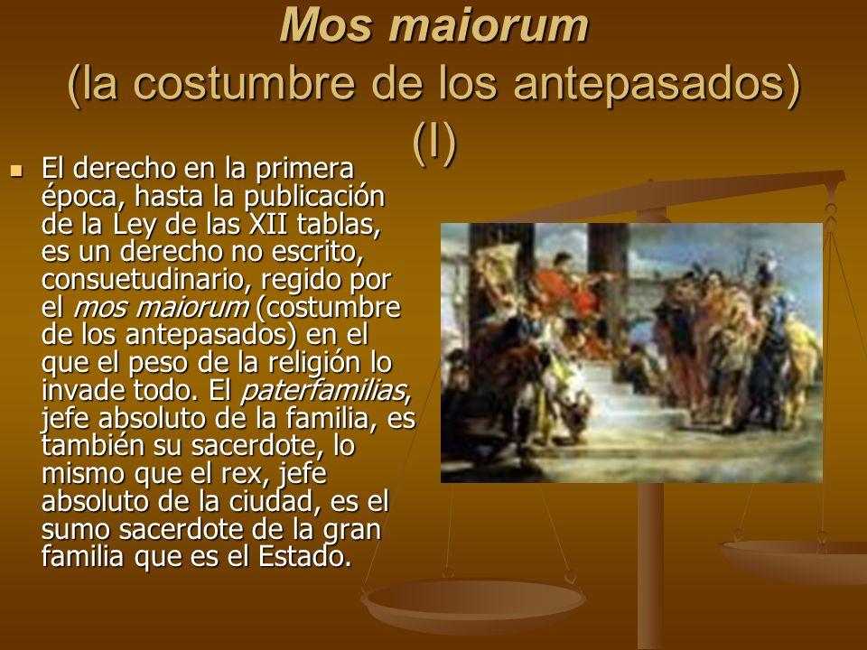 Mos maiorum (la costumbre de los antepasados) (I)