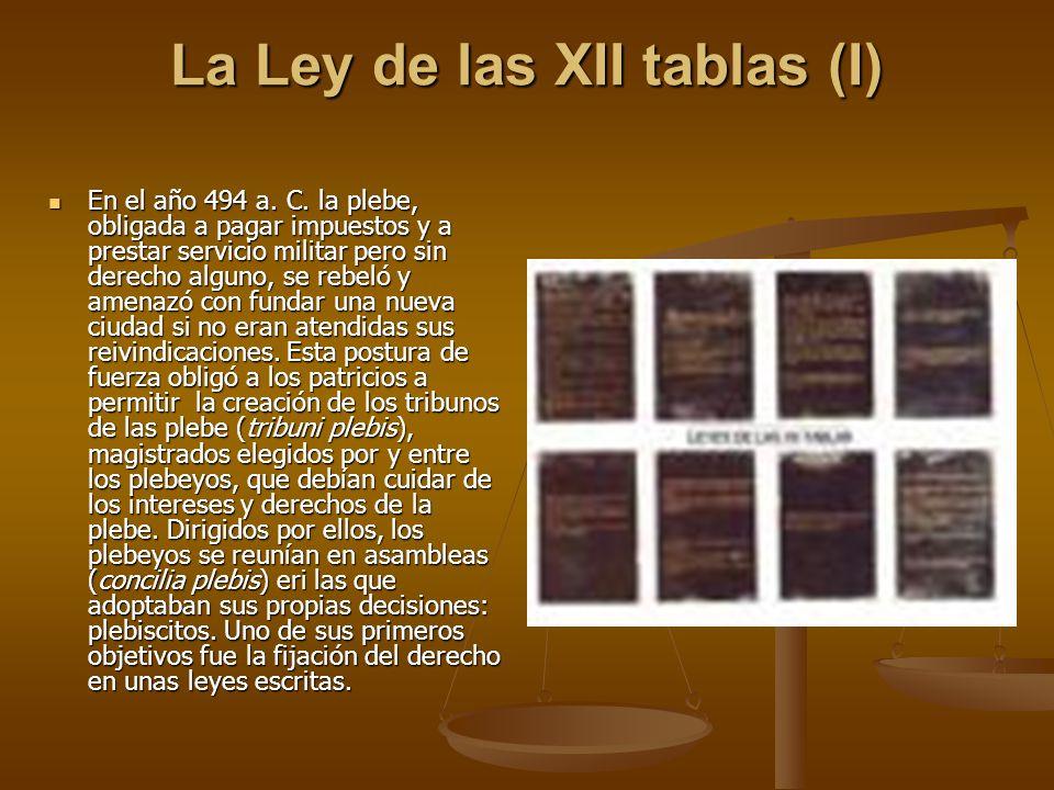 La Ley de las XII tablas (I)