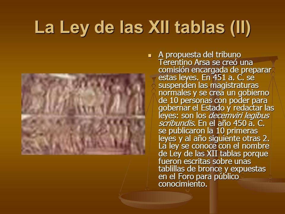 La Ley de las XII tablas (II)