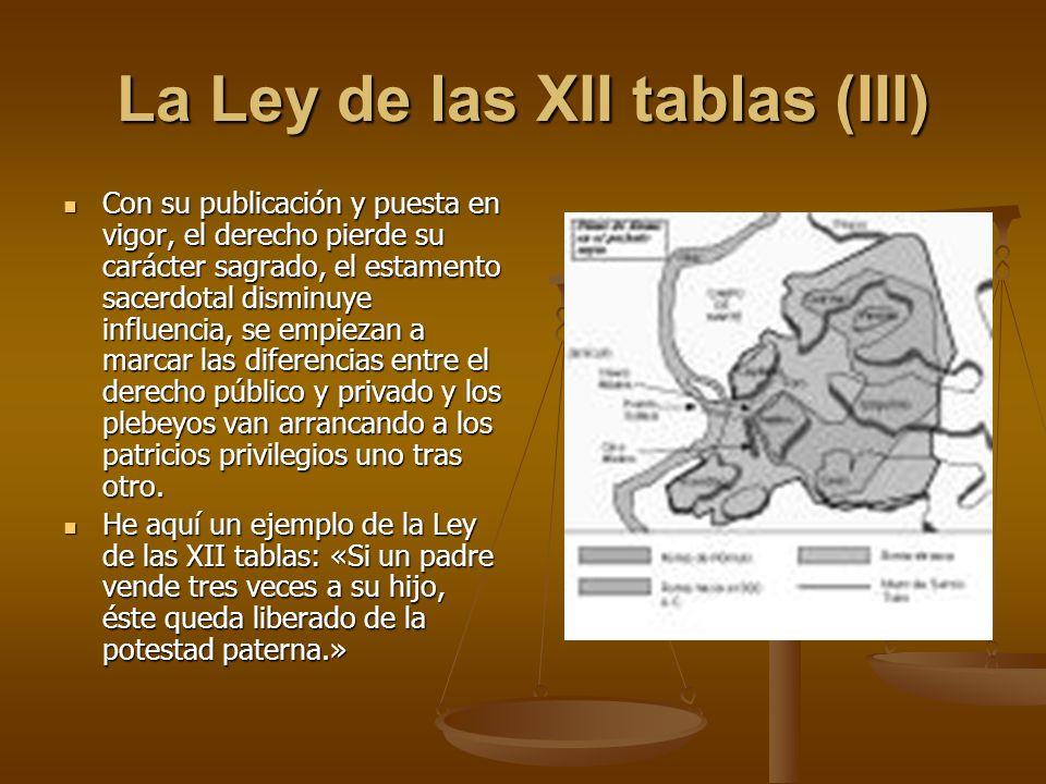 La Ley de las XII tablas (III)