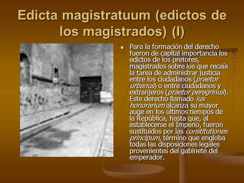 Edicta magistratuum (edictos de los magistrados) (I)