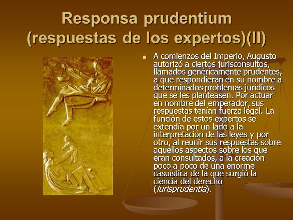 Responsa prudentium (respuestas de los expertos)(II)