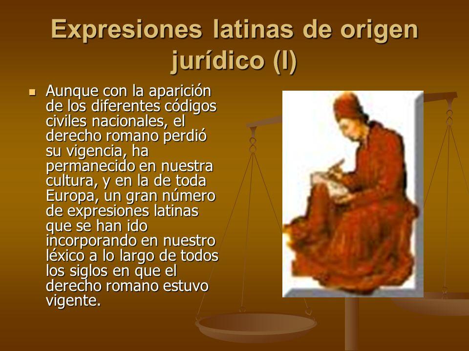 Expresiones latinas de origen jurídico (I)