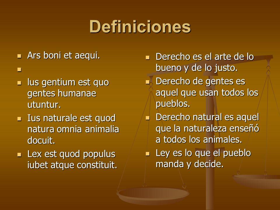 Definiciones Ars boni et aequi.
