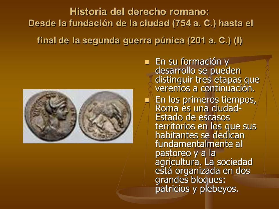 Historia del derecho romano: Desde la fundación de la ciudad (754 a. C