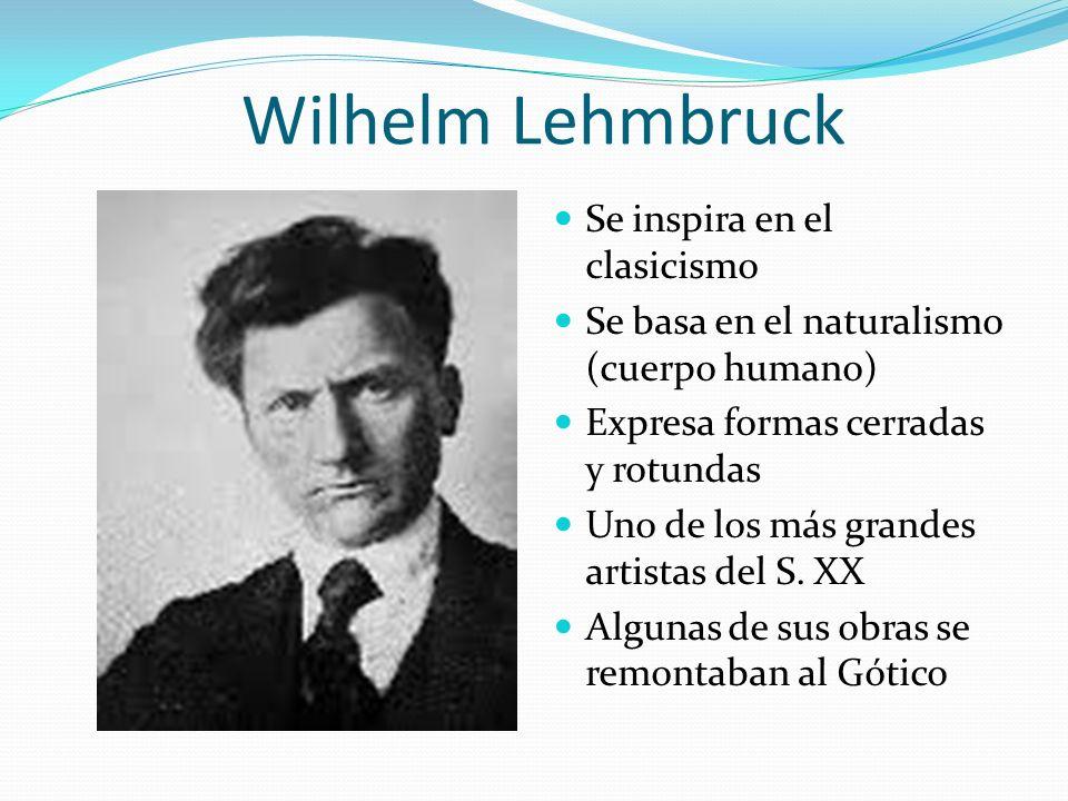 Wilhelm Lehmbruck Se inspira en el clasicismo