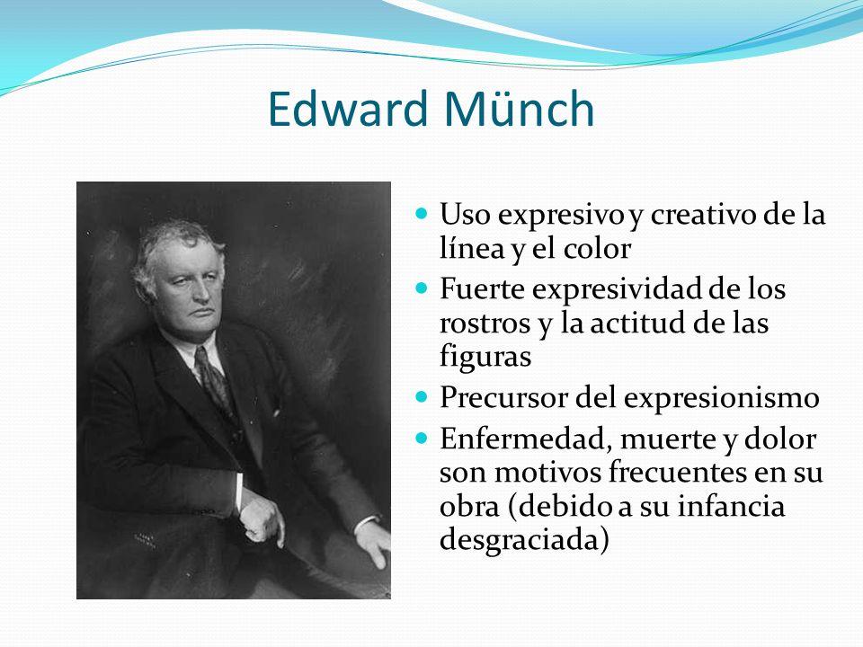 Edward Münch Uso expresivo y creativo de la línea y el color
