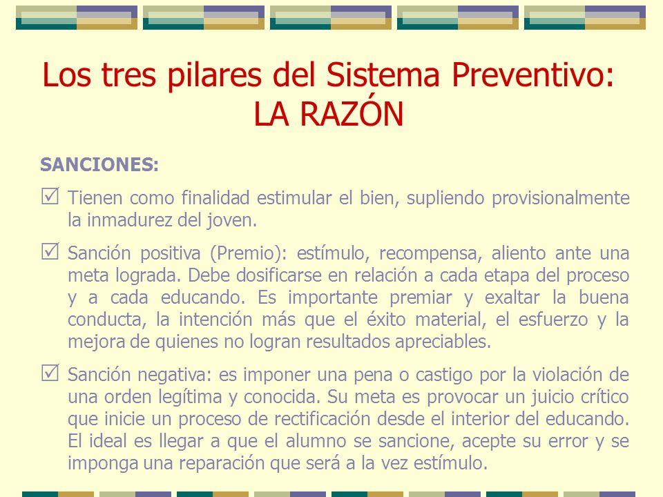 Los tres pilares del Sistema Preventivo: LA RAZÓN