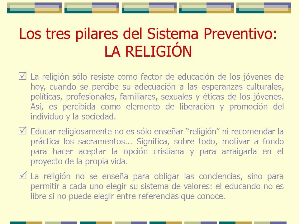Los tres pilares del Sistema Preventivo: LA RELIGIÓN