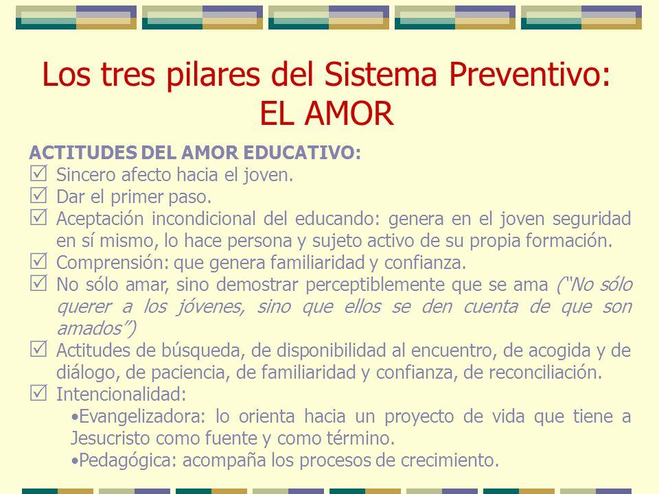Los tres pilares del Sistema Preventivo: EL AMOR