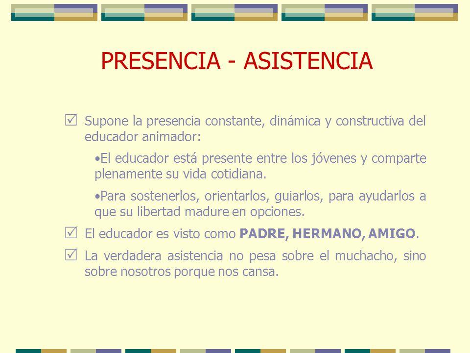PRESENCIA - ASISTENCIA
