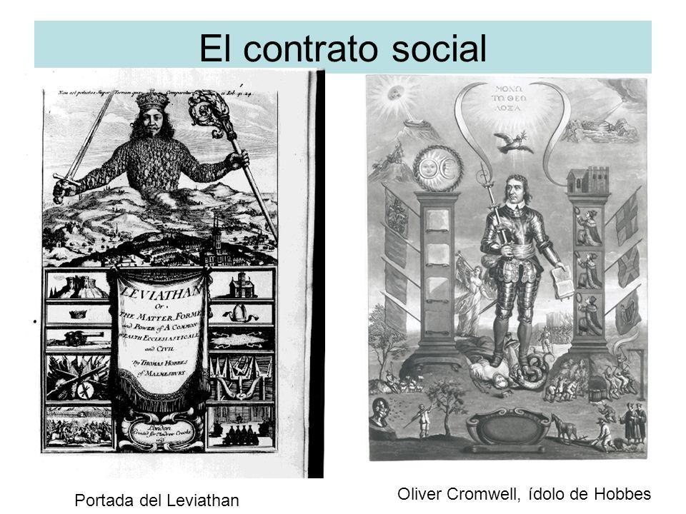 El contrato social Oliver Cromwell, ídolo de Hobbes