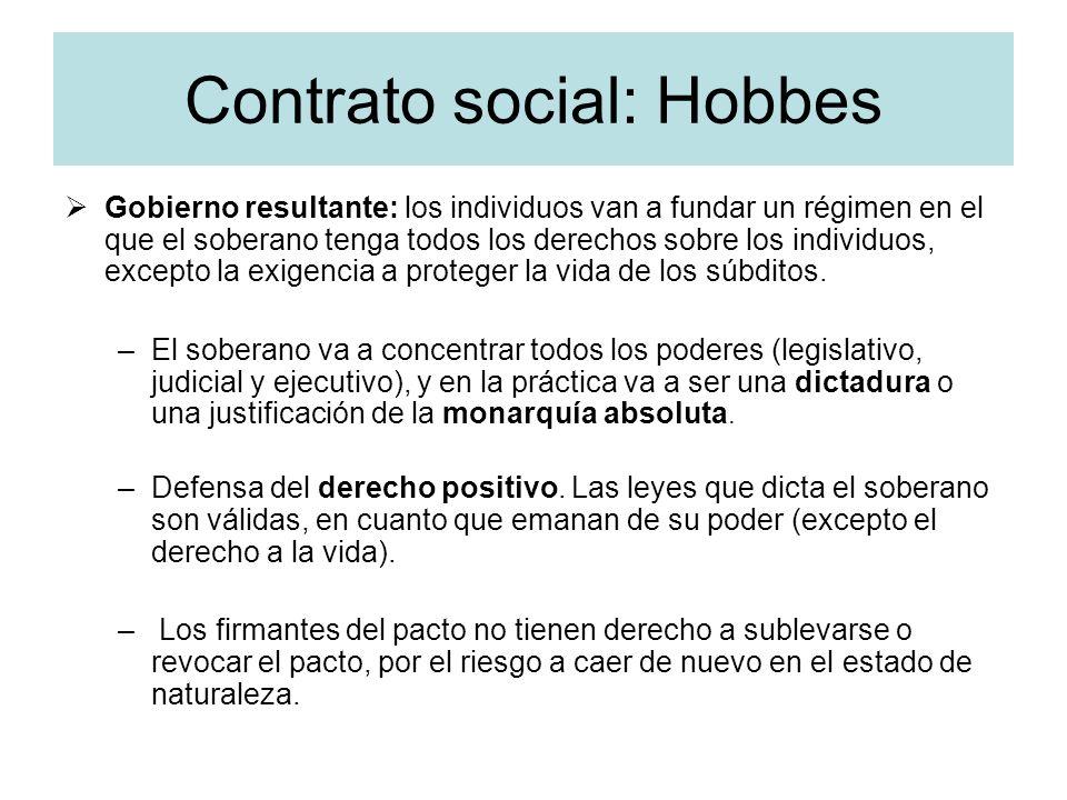 Contrato social: Hobbes