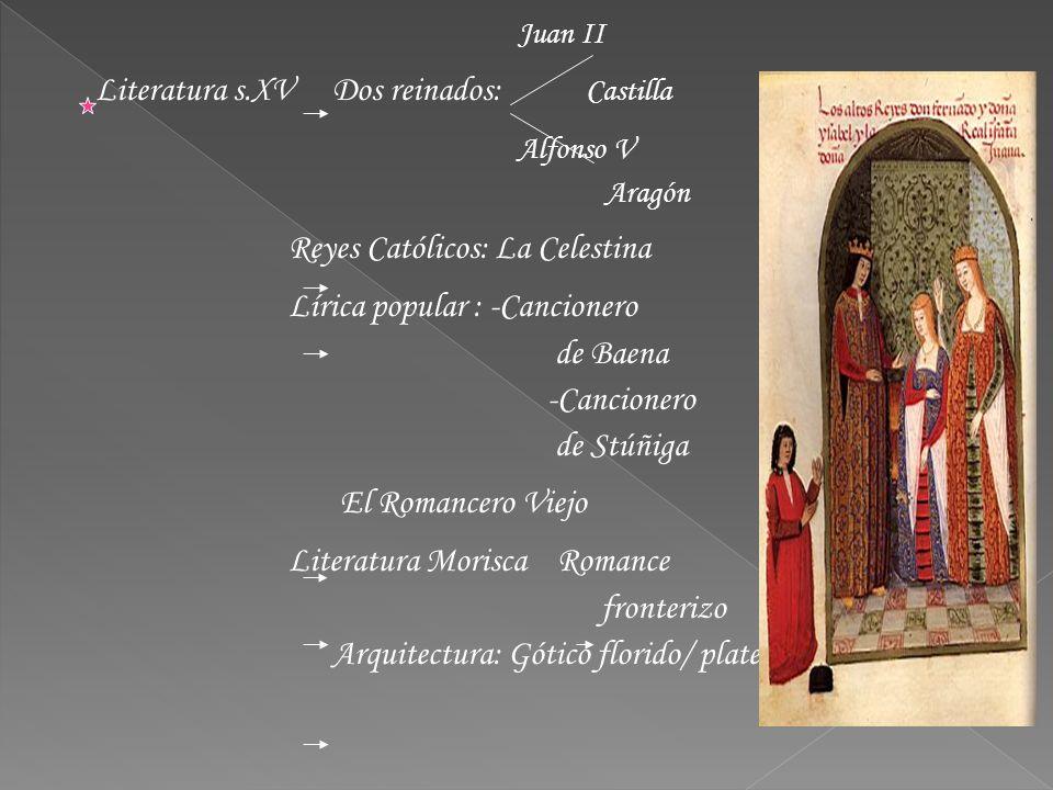 Literatura s.XV Dos reinados: Castilla Alfonso V