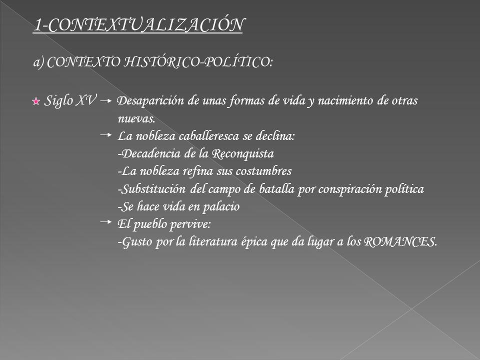 1-CONTEXTUALIZACIÓN a) CONTEXTO HISTÓRICO-POLÍTICO: nuevas.