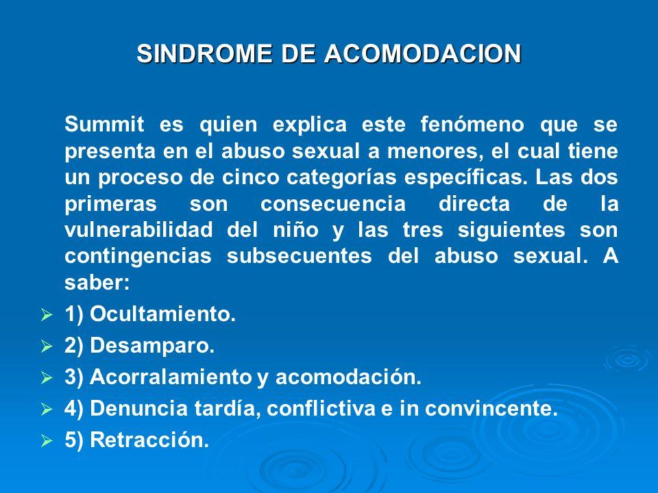 SINDROME DE ACOMODACION