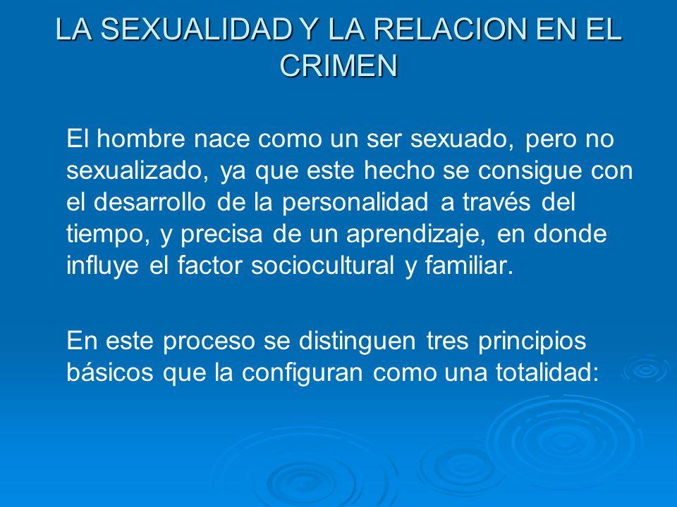 LA SEXUALIDAD Y LA RELACION EN EL CRIMEN