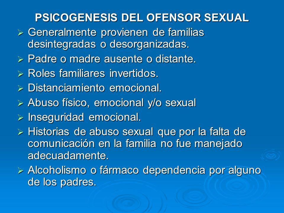 PSICOGENESIS DEL OFENSOR SEXUAL
