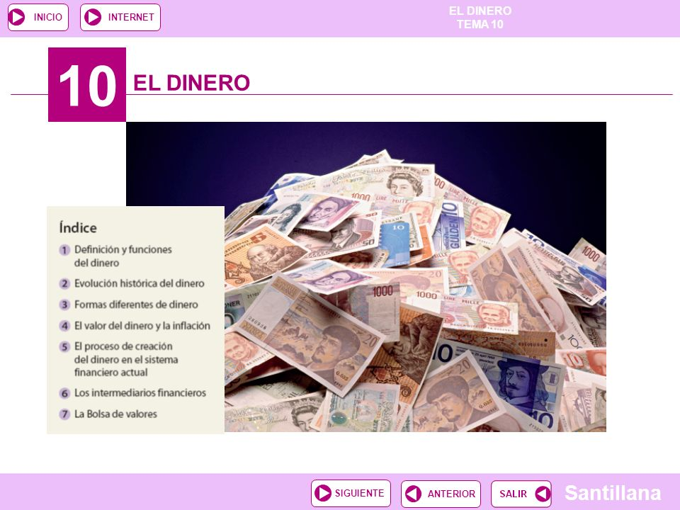 10 EL DINERO