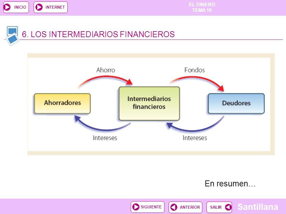6. LOS INTERMEDIARIOS FINANCIEROS