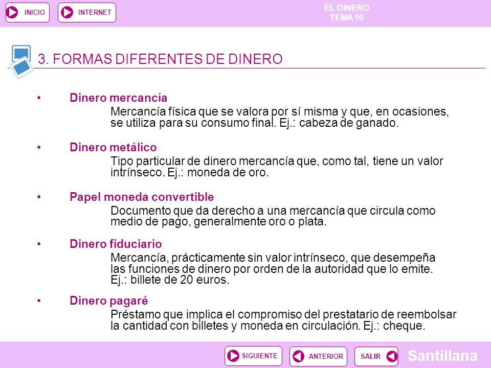 3. FORMAS DIFERENTES DE DINERO
