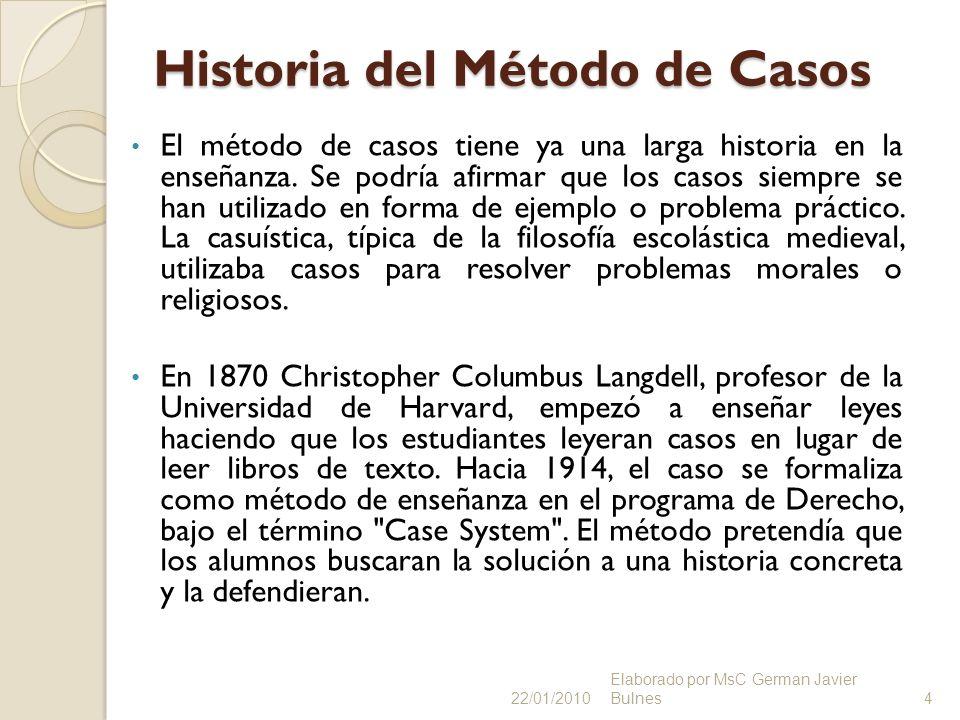 Historia del Método de Casos