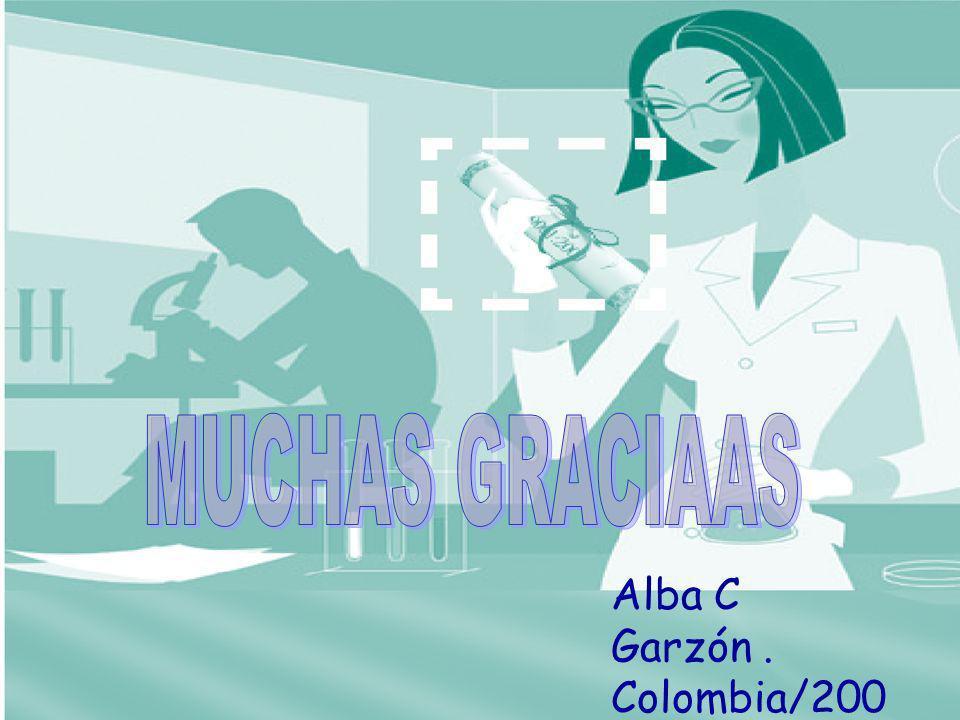 MUCHAS GRACIAAS Alba C Garzón . Colombia/2006