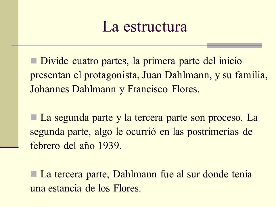 La estructura Divide cuatro partes, la primera parte del inicio