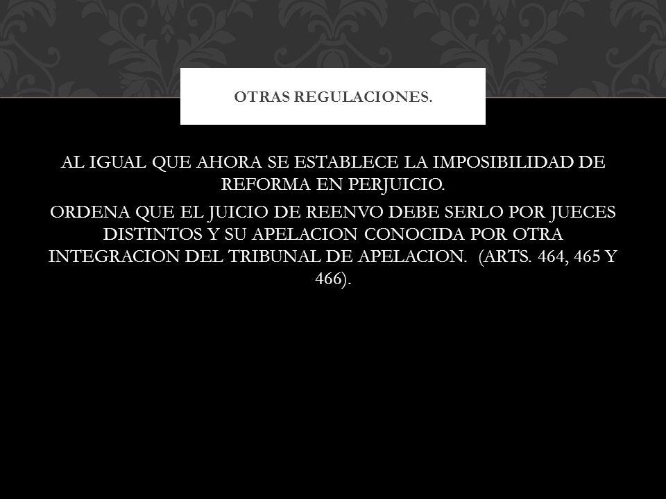 OTRAS REGULACIONES.