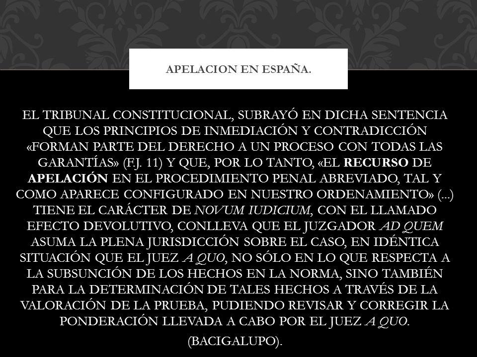 APELACION EN ESPAÑA.