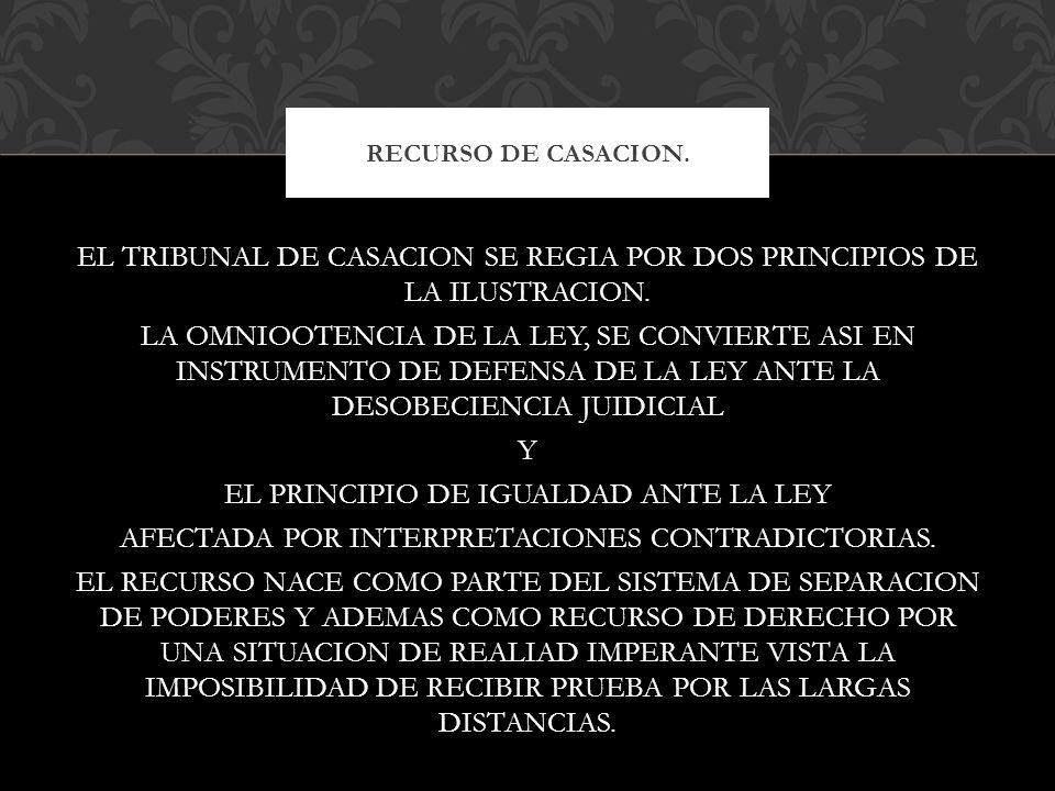 RECURSO DE CASACION.