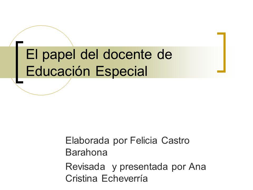 El papel del docente de Educación Especial