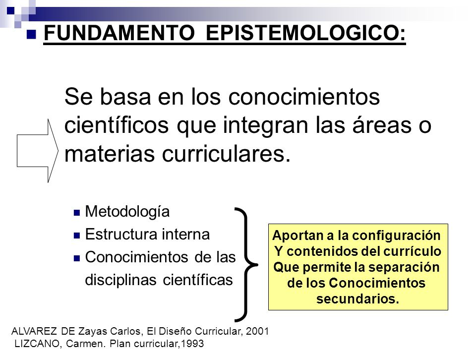 FUNDAMENTO EPISTEMOLOGICO:
