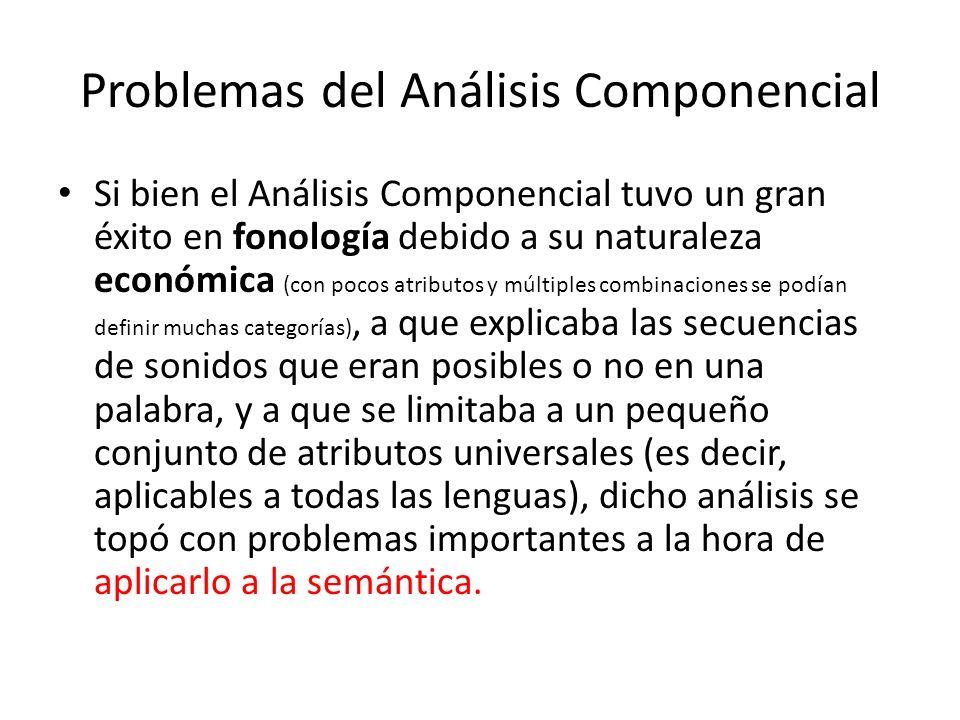 Problemas del Análisis Componencial