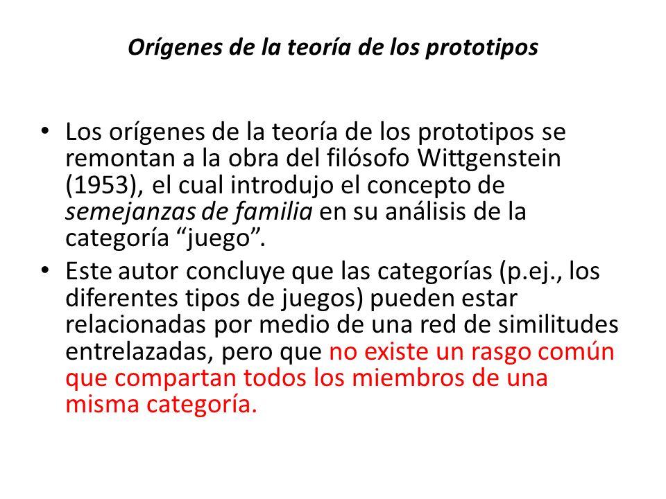 Orígenes de la teoría de los prototipos