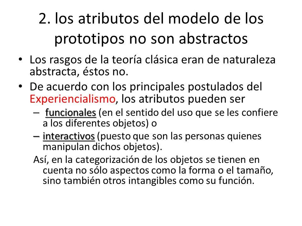 2. los atributos del modelo de los prototipos no son abstractos