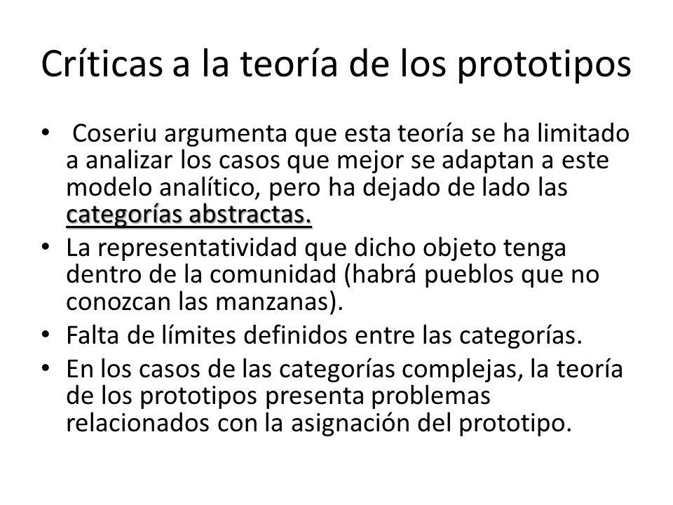 Críticas a la teoría de los prototipos