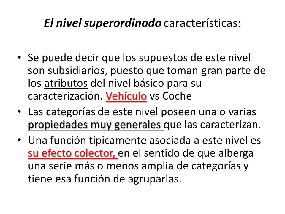 El nivel superordinado características: