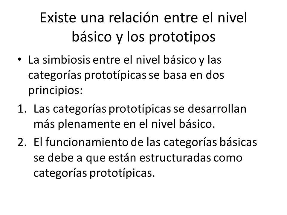 Existe una relación entre el nivel básico y los prototipos