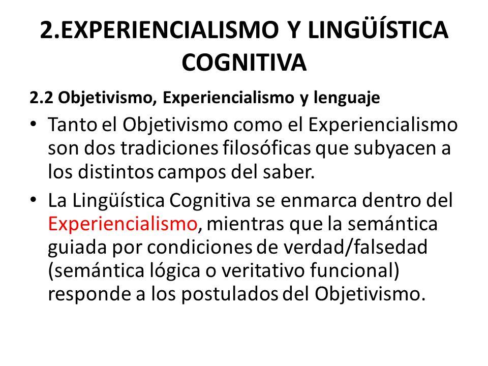 2.EXPERIENCIALISMO Y LINGÜÍSTICA COGNITIVA