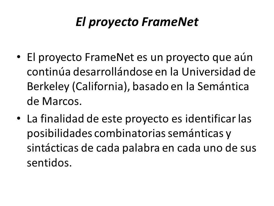 El proyecto FrameNet